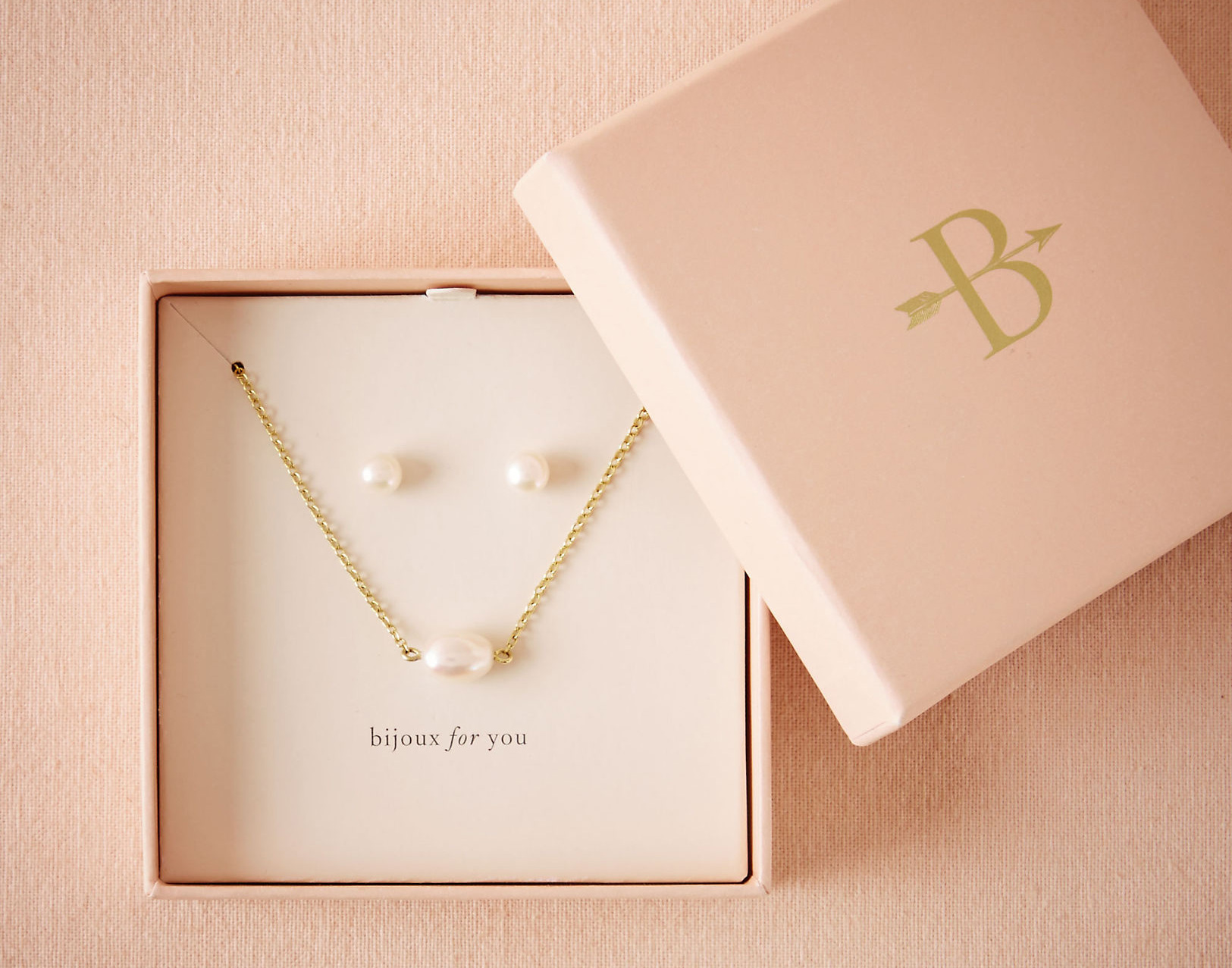 Pearl Bijoux for You earring and necklace gift set BHLDN bridesmaid present ideas