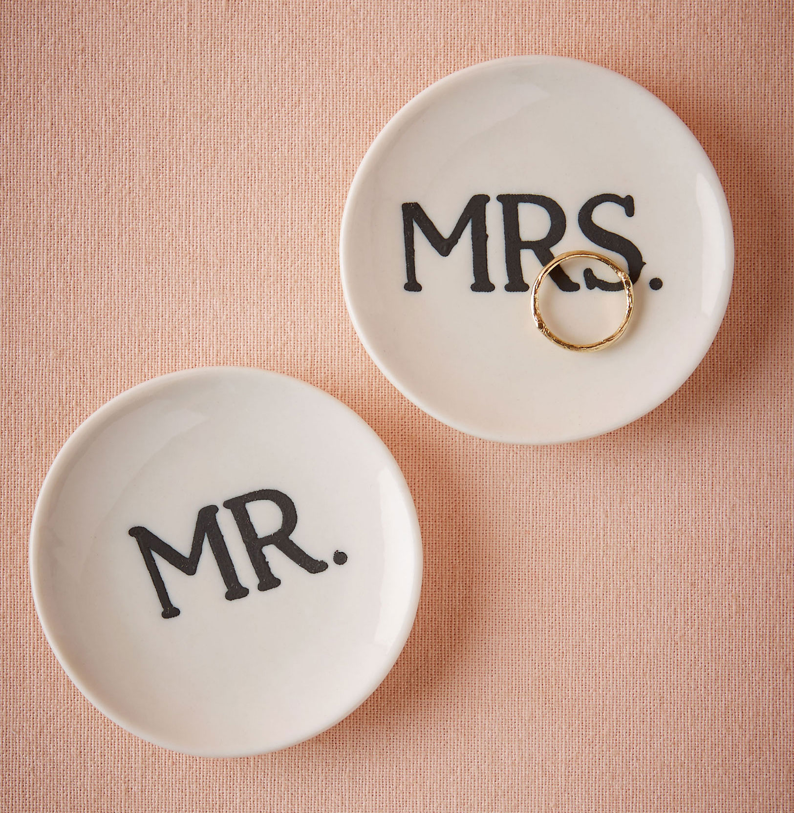 Mr and Mrs ring dishes dish from BHLDN newylwed gift ideas
