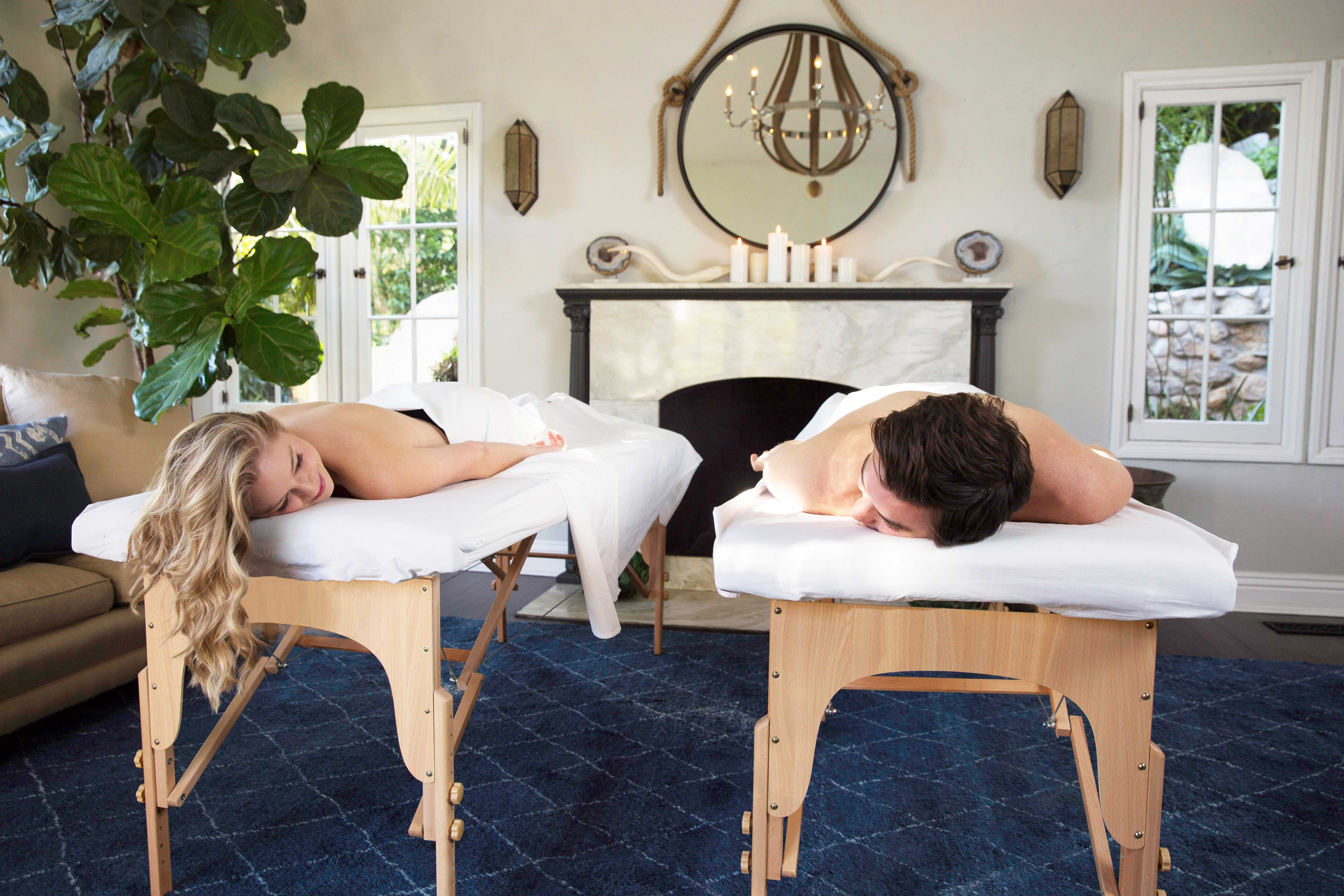 Zeel couples massage in home therapist spa day gift idea