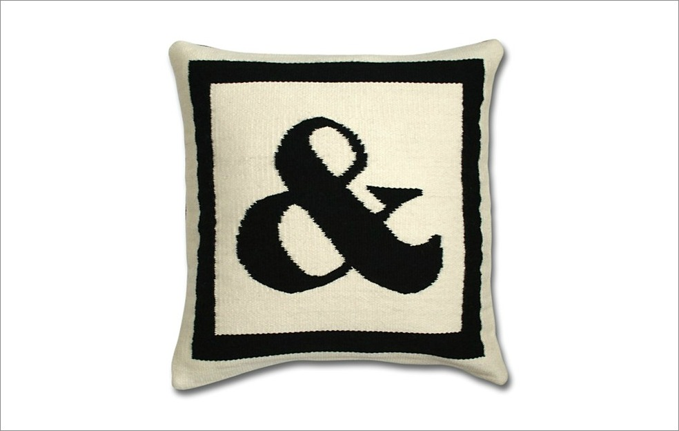 Letter Pillow Jonathan Adler from Bloomingdale's ampersand and sign embroidered gift ideas