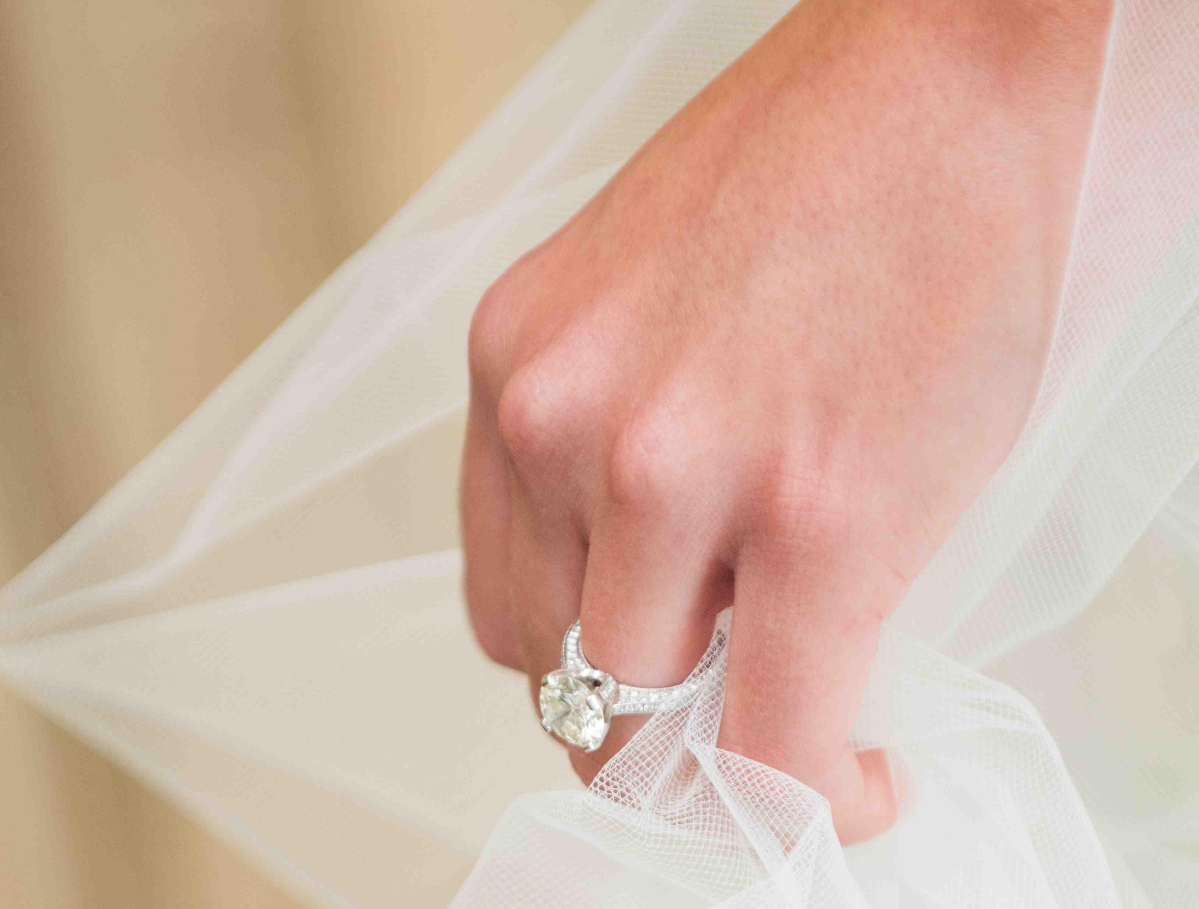 morena baccarin engagement ring inspiration white gold pavé diamond band