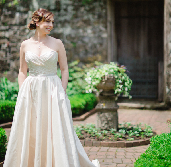 legends by romona keveza satin ball gown with pockets