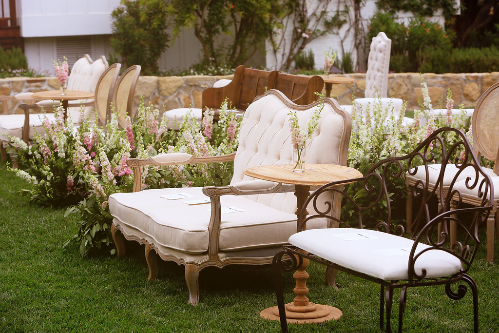 wedding ceremony seating alternatives, lounge seating intimate wedding