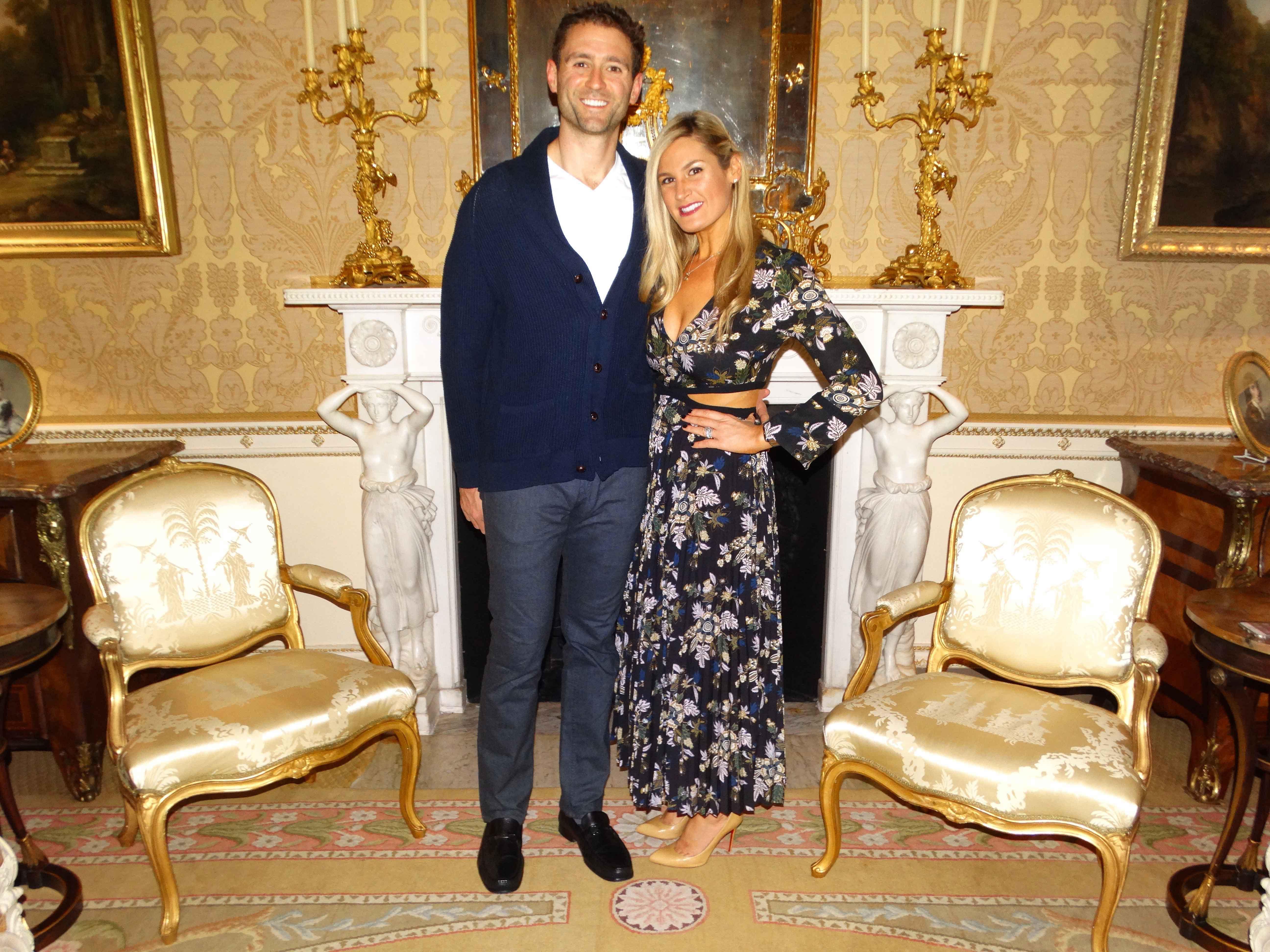 Newlywed couple at Ballyfin House in Ireland