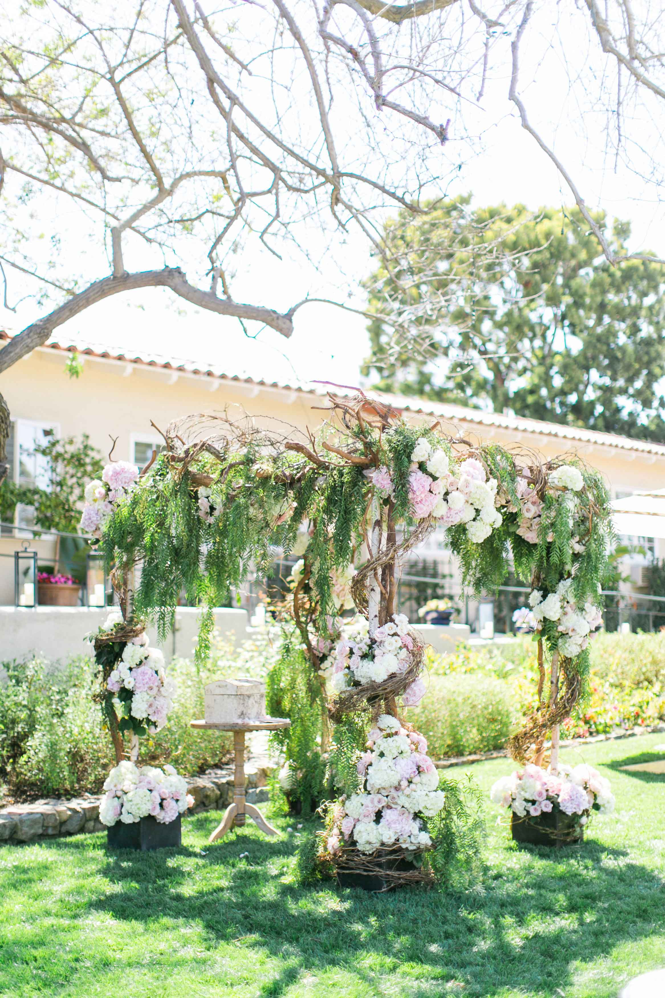 Pantone's 2017 Color of the Year Greenery Inspiration outdoor wedding ceremony greenery lawn branch chuppah