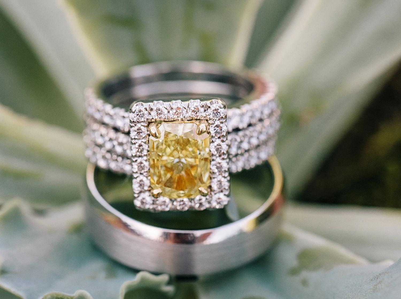 bradley cooper and irina shayk engaged, radiant-ctu yellow diamond engagement ring with halo