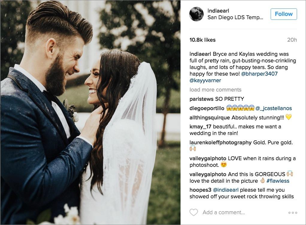 bryce harper kayla varner wedding navy suits for grooms