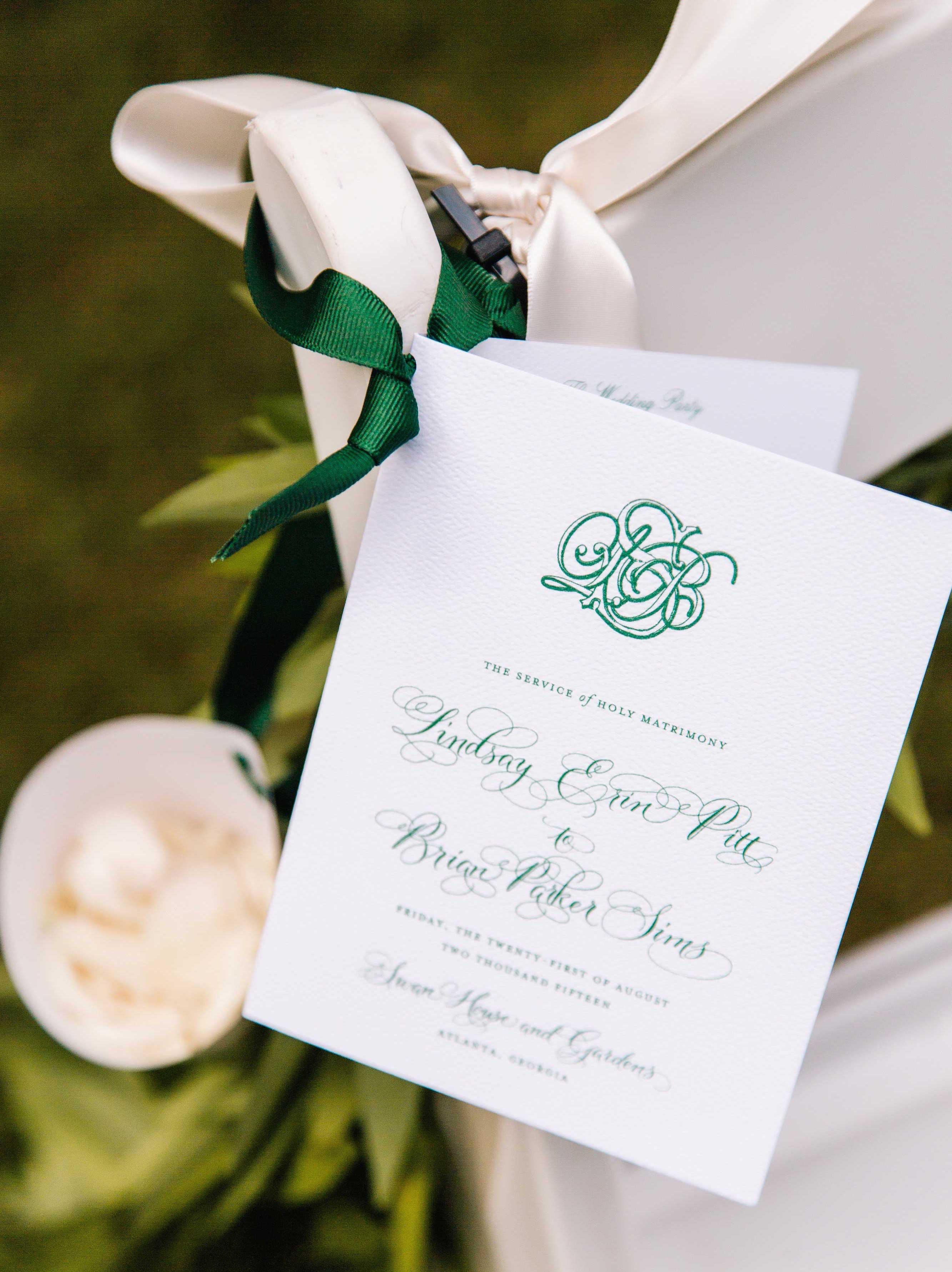 Wedding Color Palette Ideas: Dark Green & Emerald - Inside Weddings