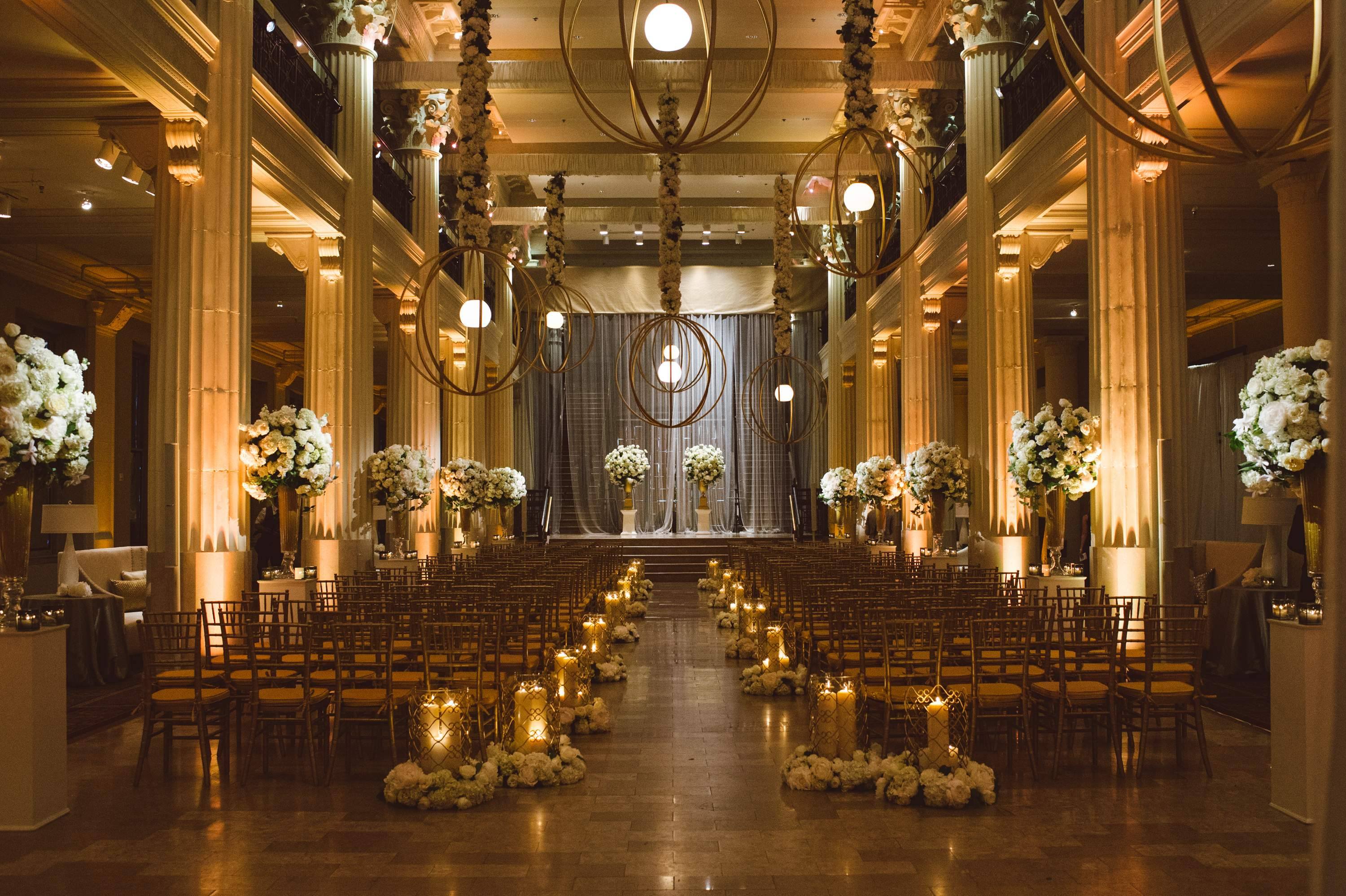 An Indoor Rustic Ceremony: Get The Cozy And Warm Winter Wedding Ceremony Look From