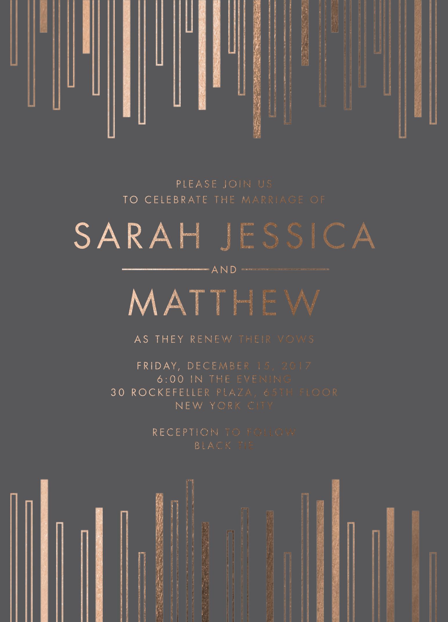 Sarah Jessica Parker and Matthew Broderick vow renewal prediction mindy weiss wedding paper divas