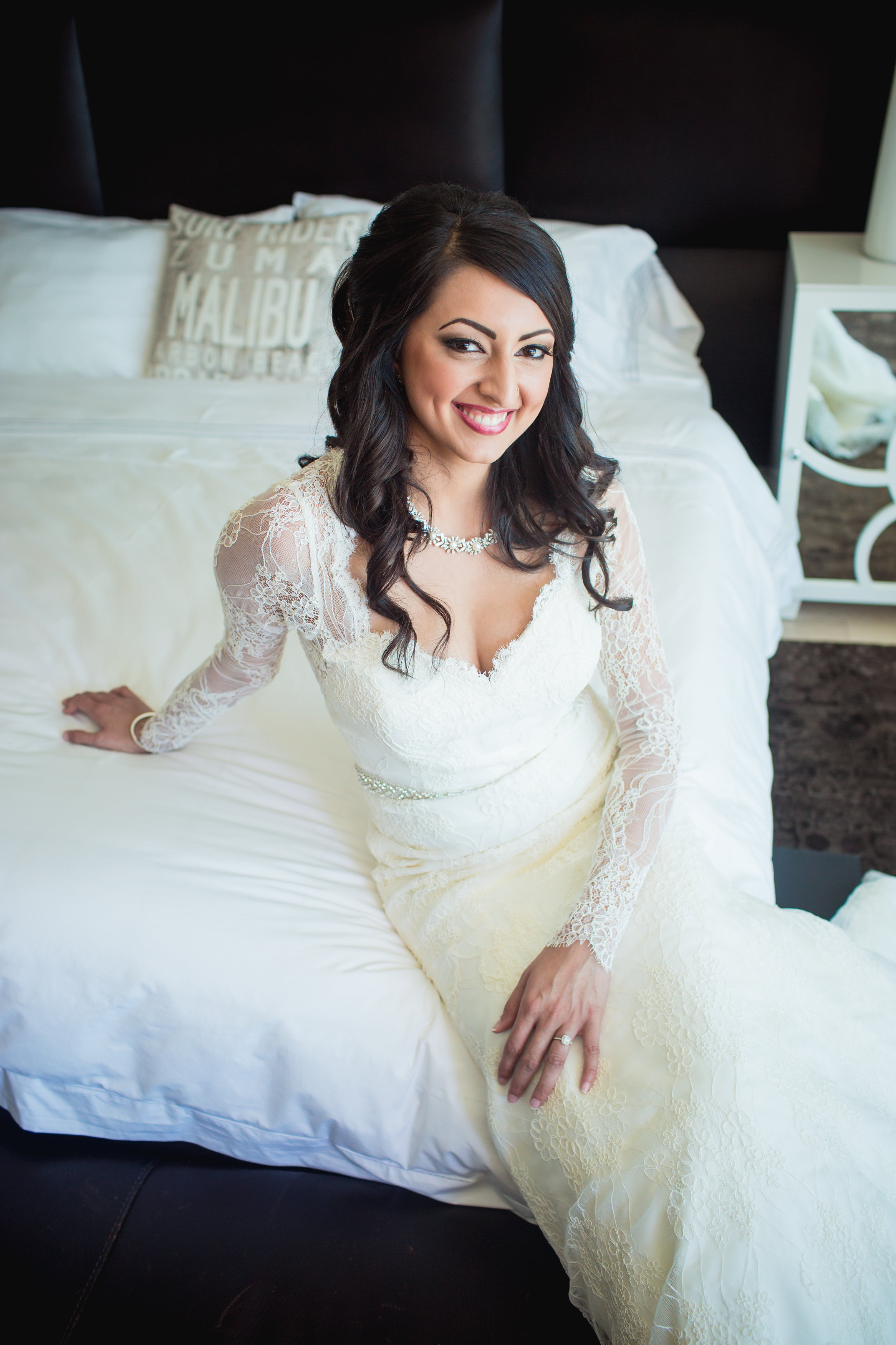 kris bryant wedding inspiration jessica delp long sleeve lace wedding dress