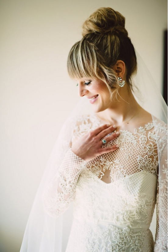 kris bryant wedding inspiration jessica delp long sleeve lace dress