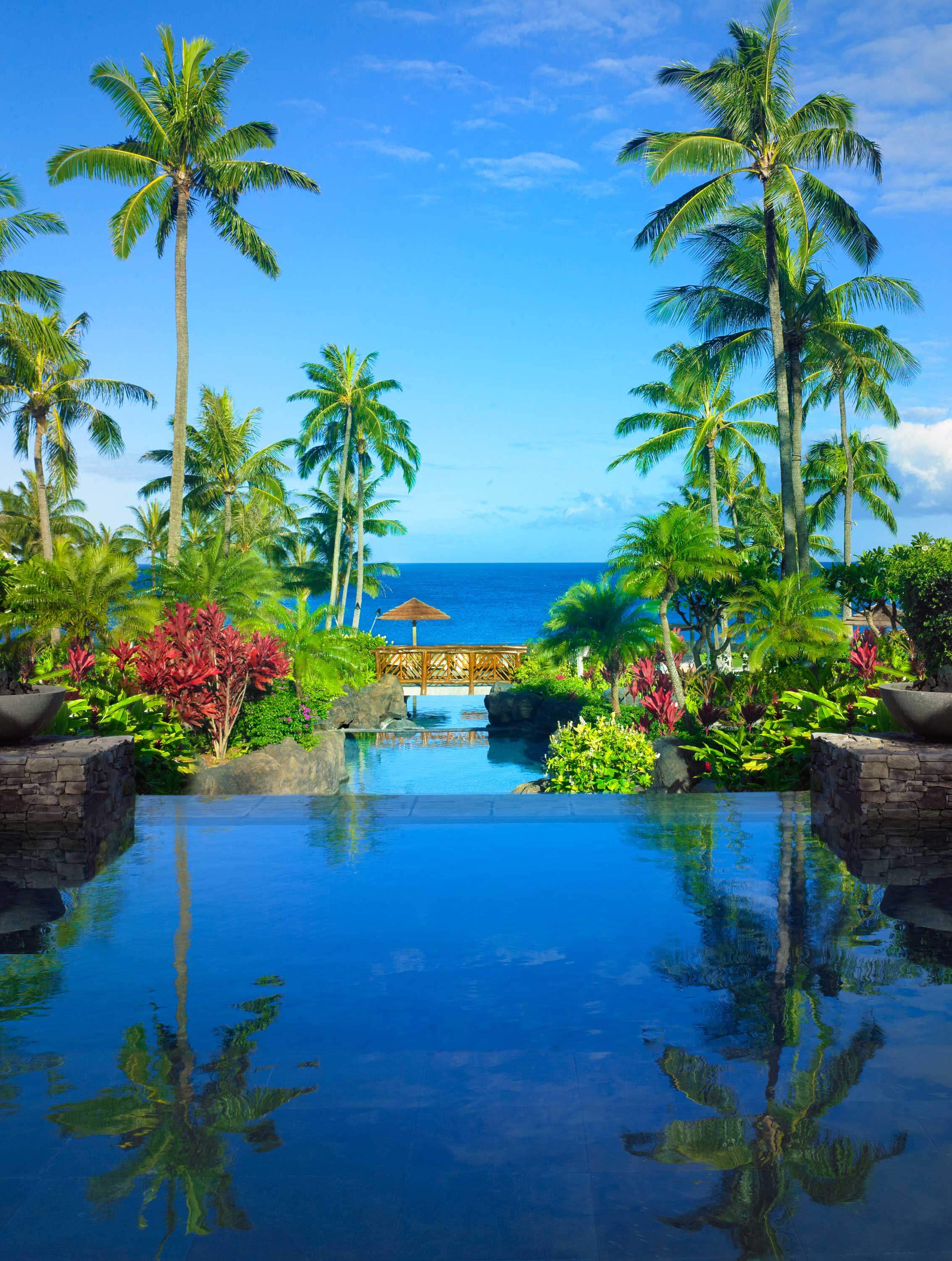Architectural Pool at Montage Kapalua Bay in Hawaii Maui
