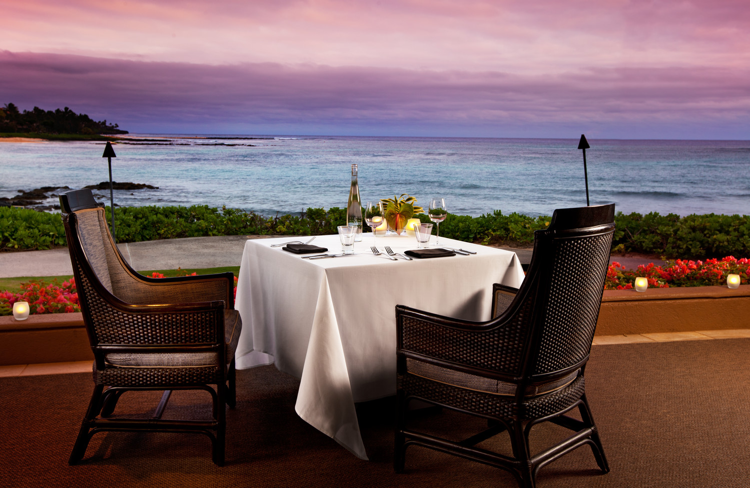 Halelani Private Dinner at Sheraton Kauai Resort in Hawaii