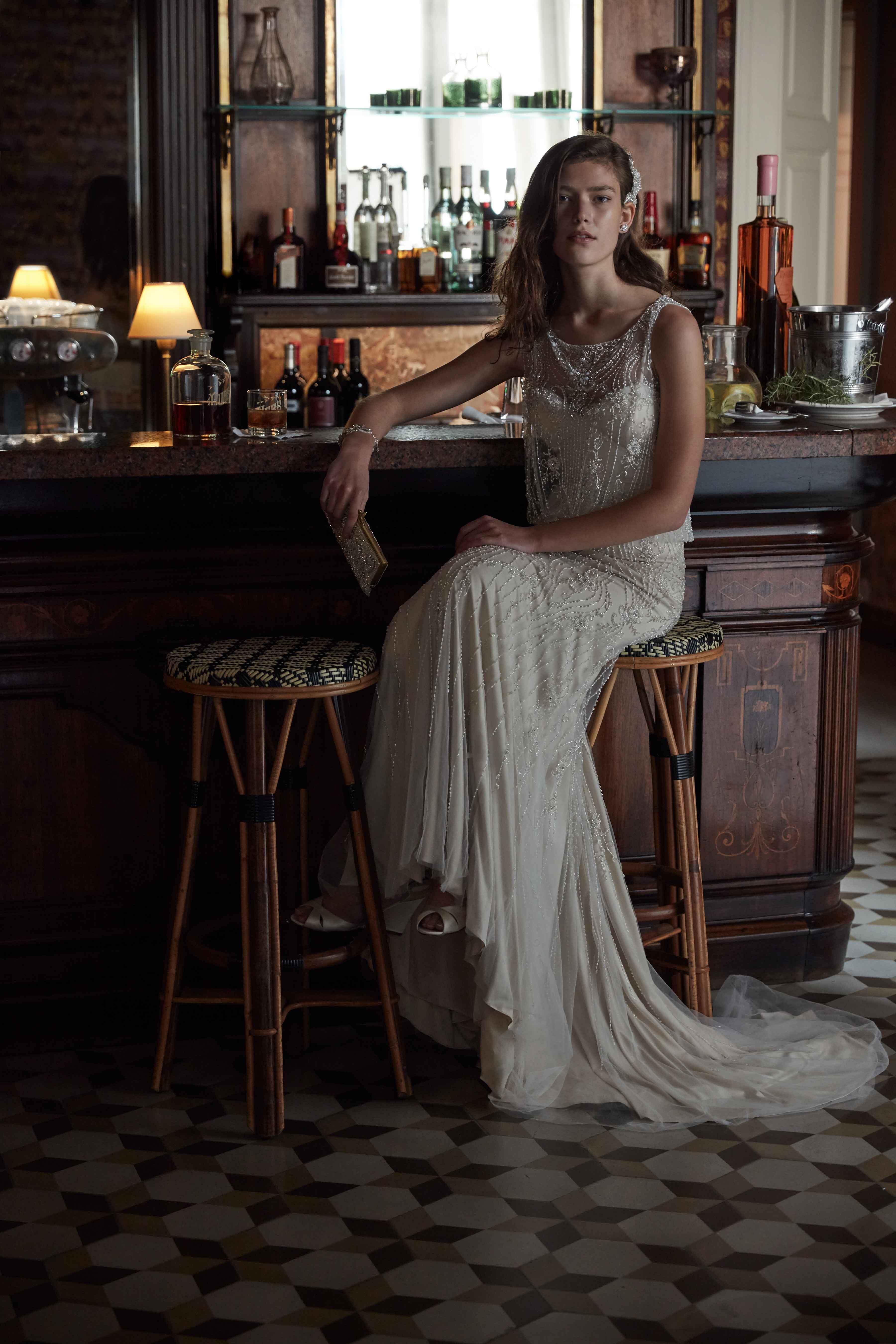 Sparkly Jacinda wedding dress BHLDN