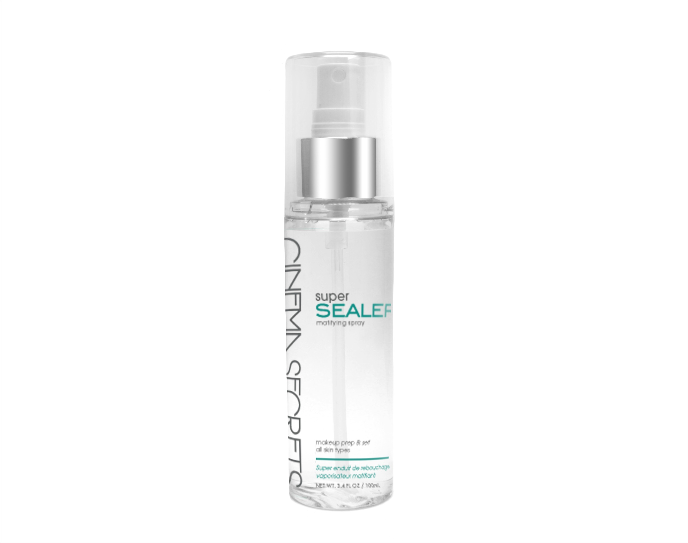 Cinema Secrets Super Sealer Mattifying Setting Spray available at Sephora