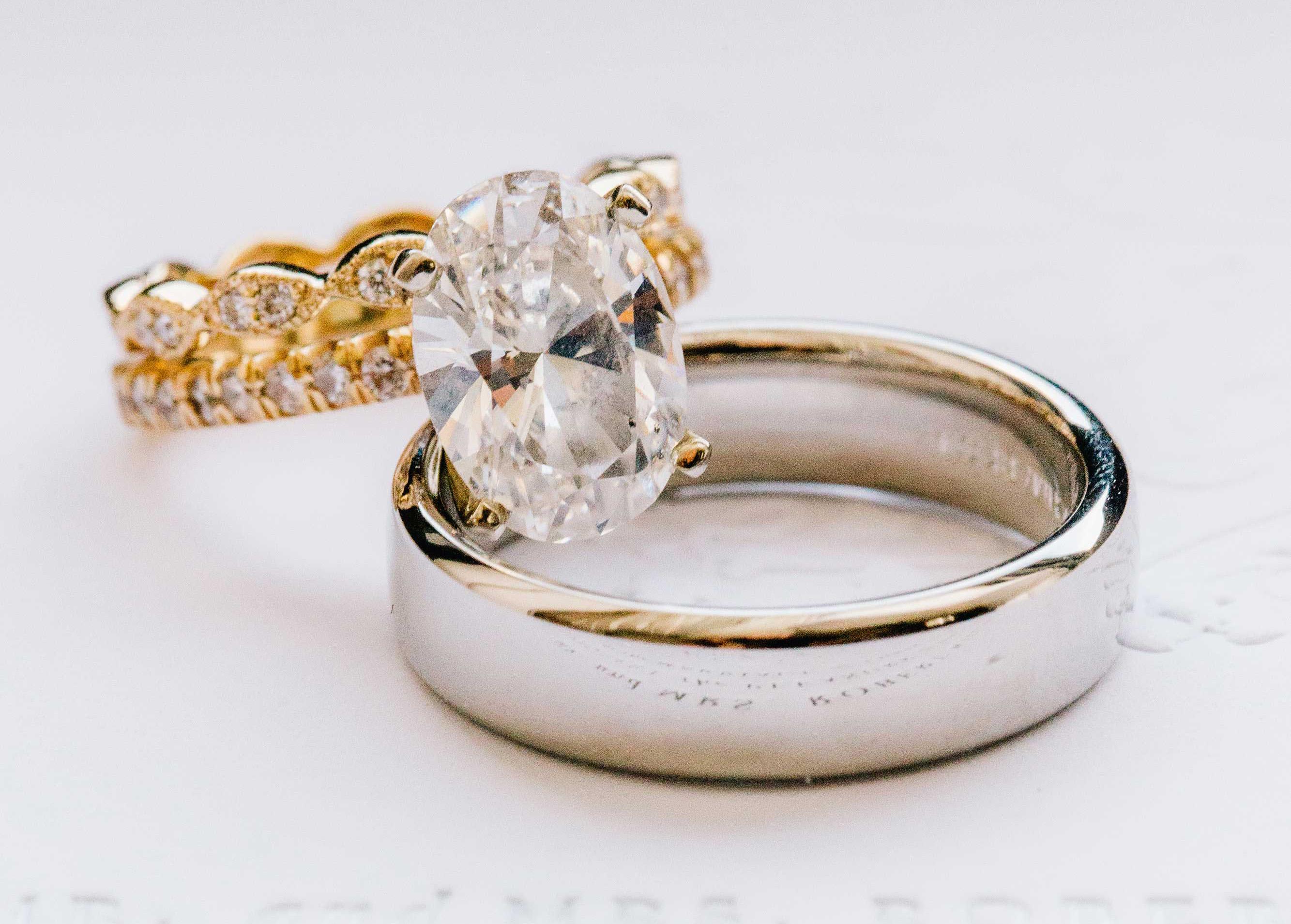 jesse plemons kirsten dunst engagement ring inspiration oval diamond yellow gold