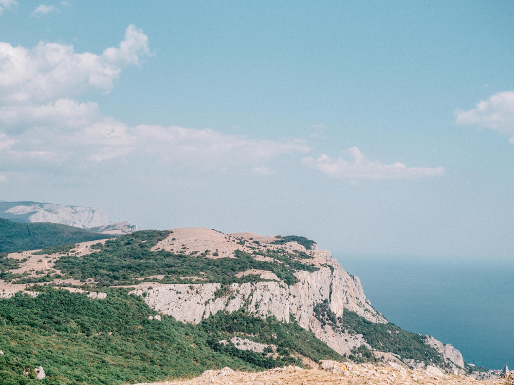 View of Crimea in Europe Russian couple elopement