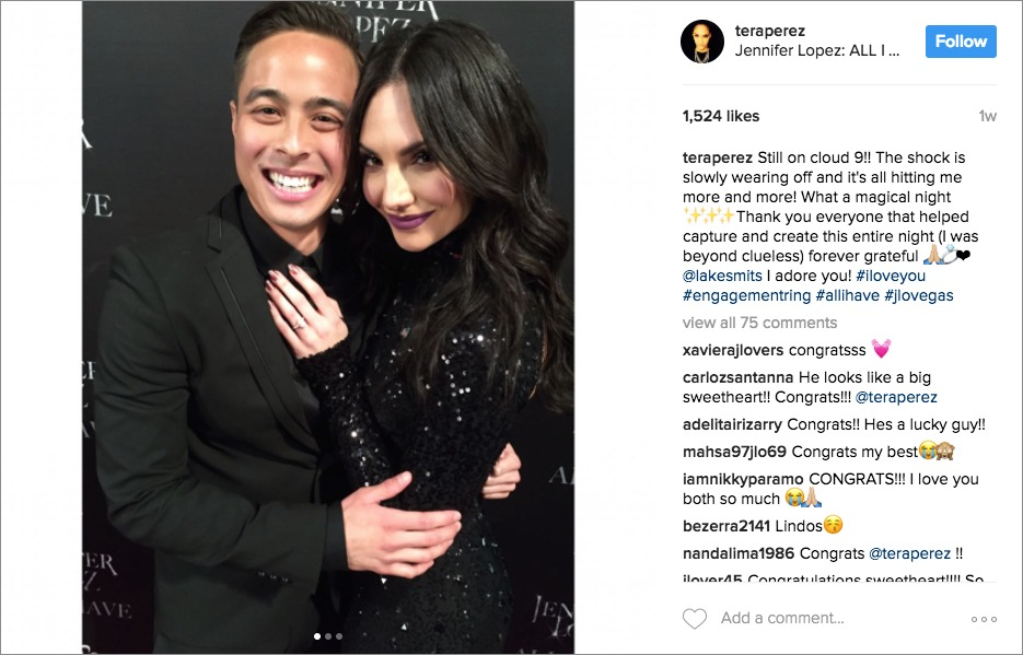 Tera Perez and Lake Smits get engaged on stage with jennifer lopez
