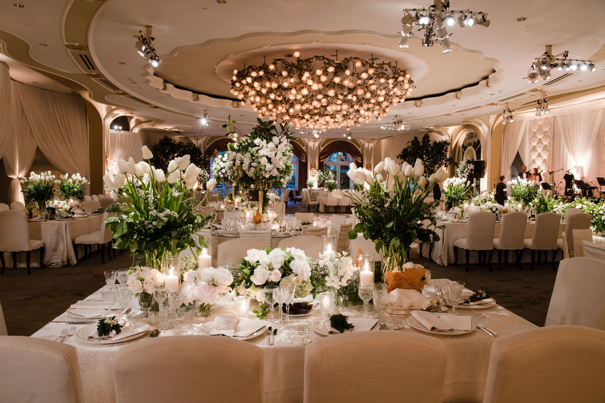 Inside Weddings Spring 2017 issue ballroom wedding Levine Fox Events beverly hills