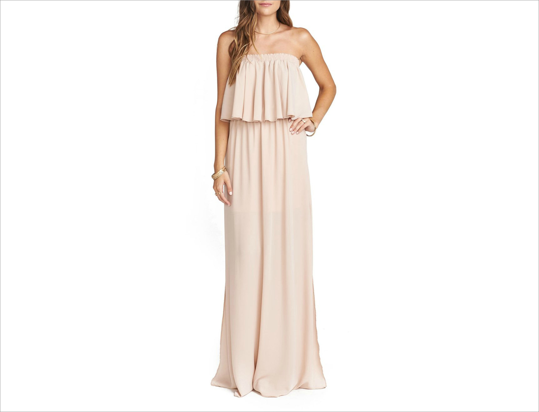 Hacienda convertible off-the-shoulder a-line bridesmaid dress in blush Show Me Your Mumu