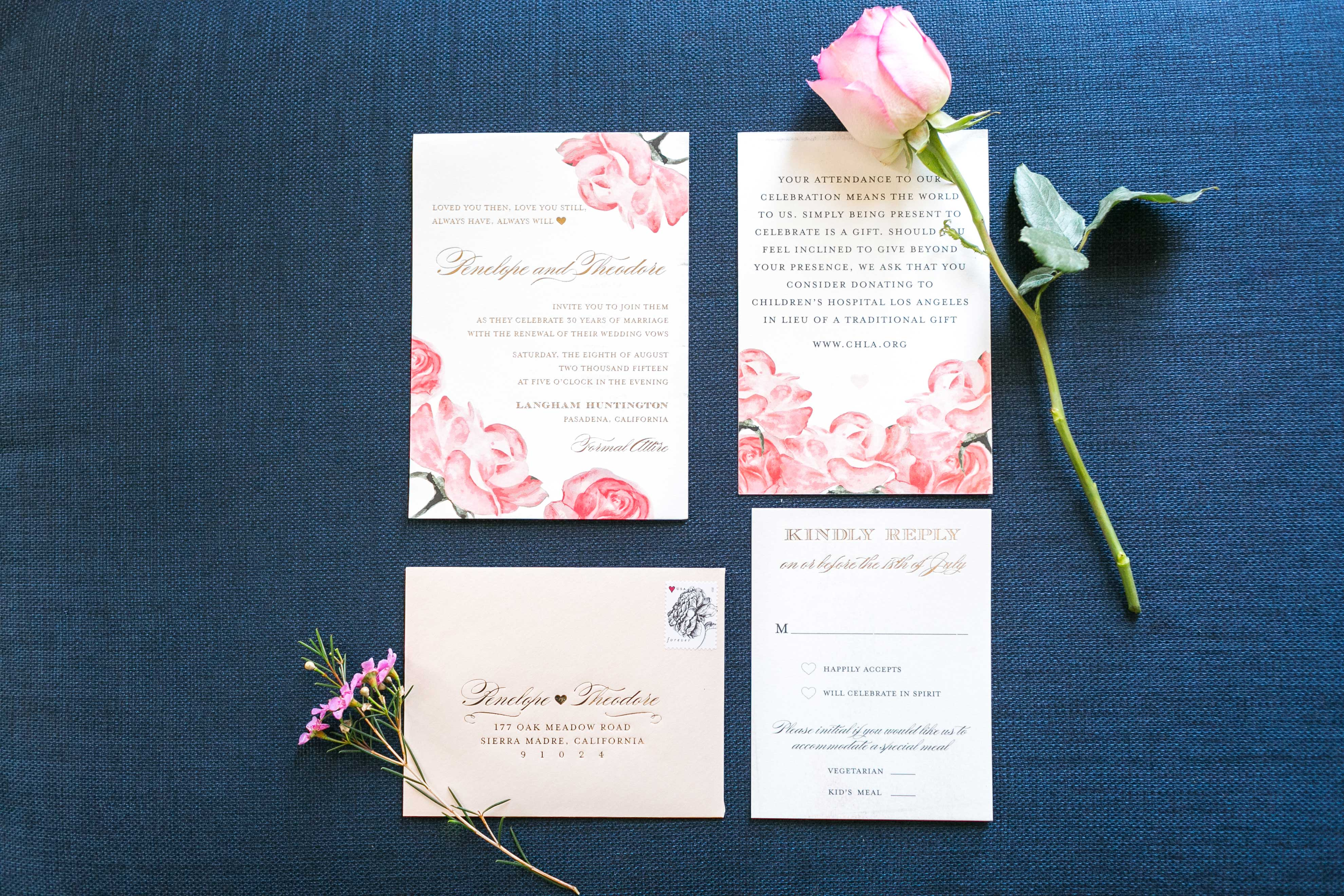 7 Wedding Invitation Suites with Pastel