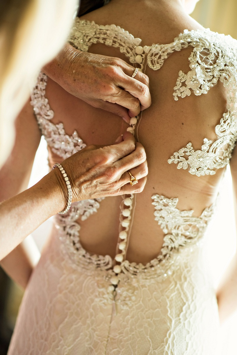 mother of the bride buttons up elaborate anne barge wedding gown