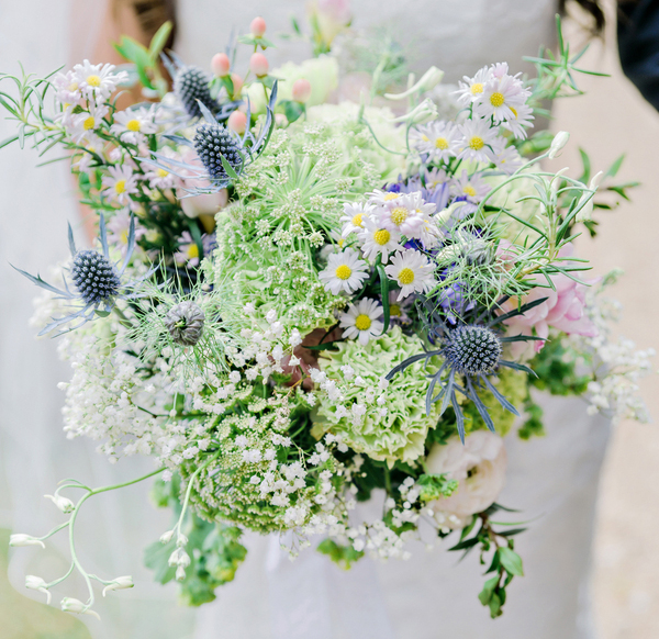 pastel wedding inspiration, wildflower bouquet