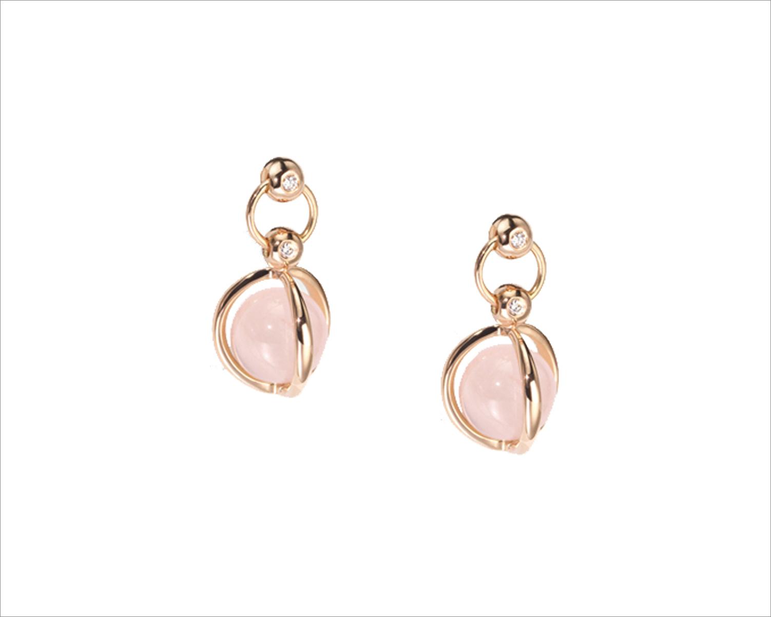 Furrer Jacot rose quartz earrings Mother's Day gift idea