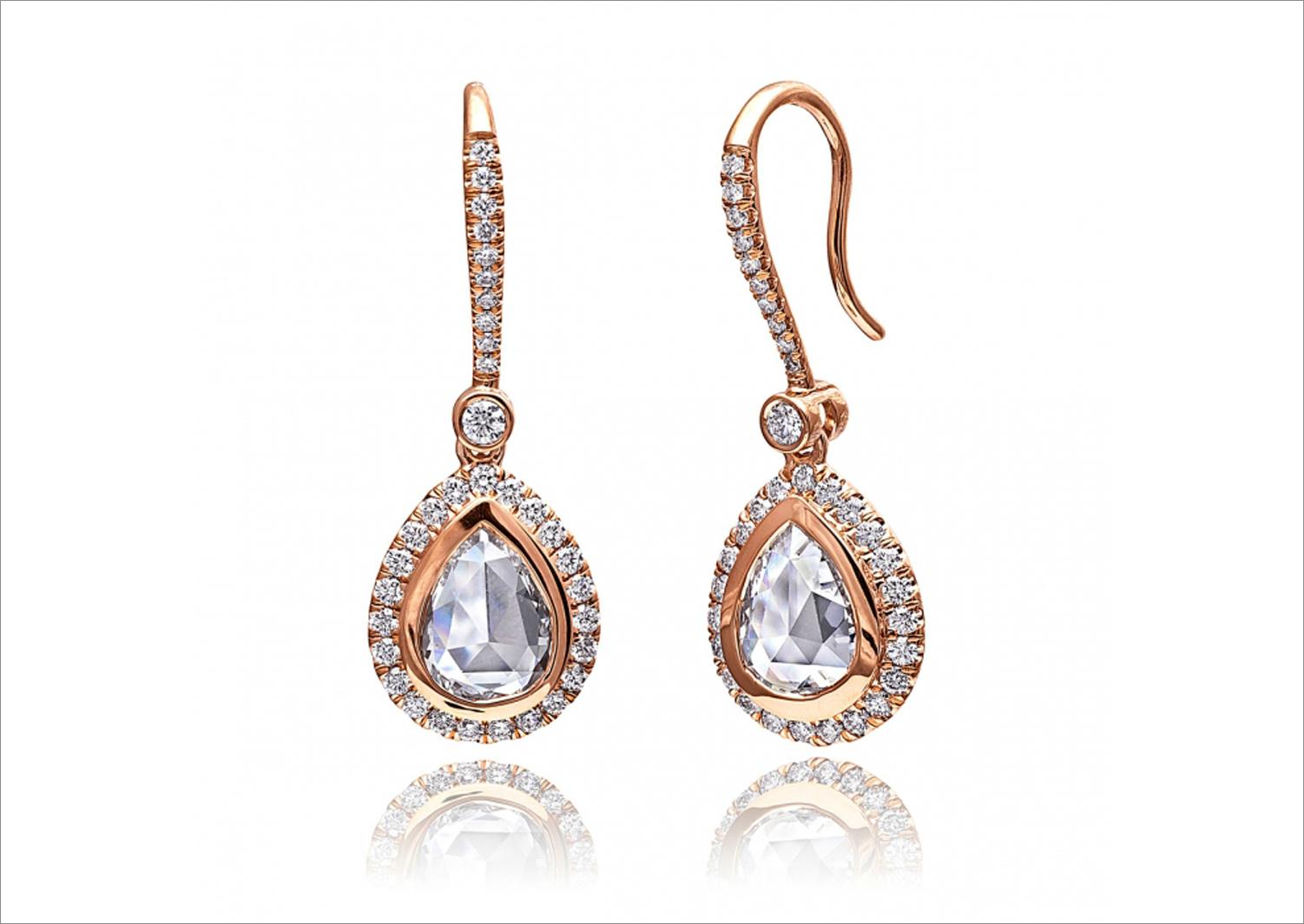 Coast diamond rose gold earrings diamond drop earring style