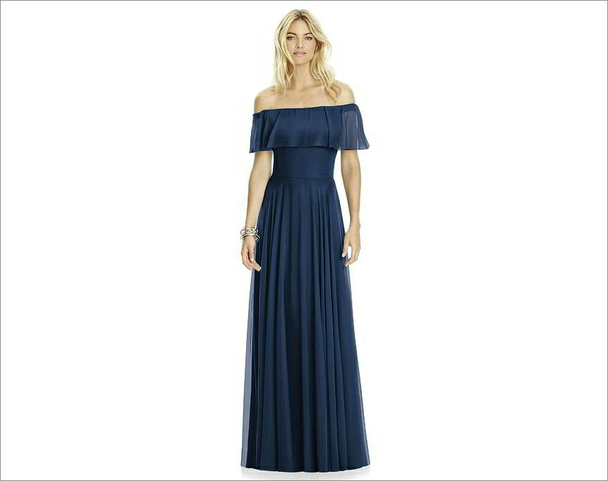 After Six Bridesmaid Dress 6763 in midnight dessy