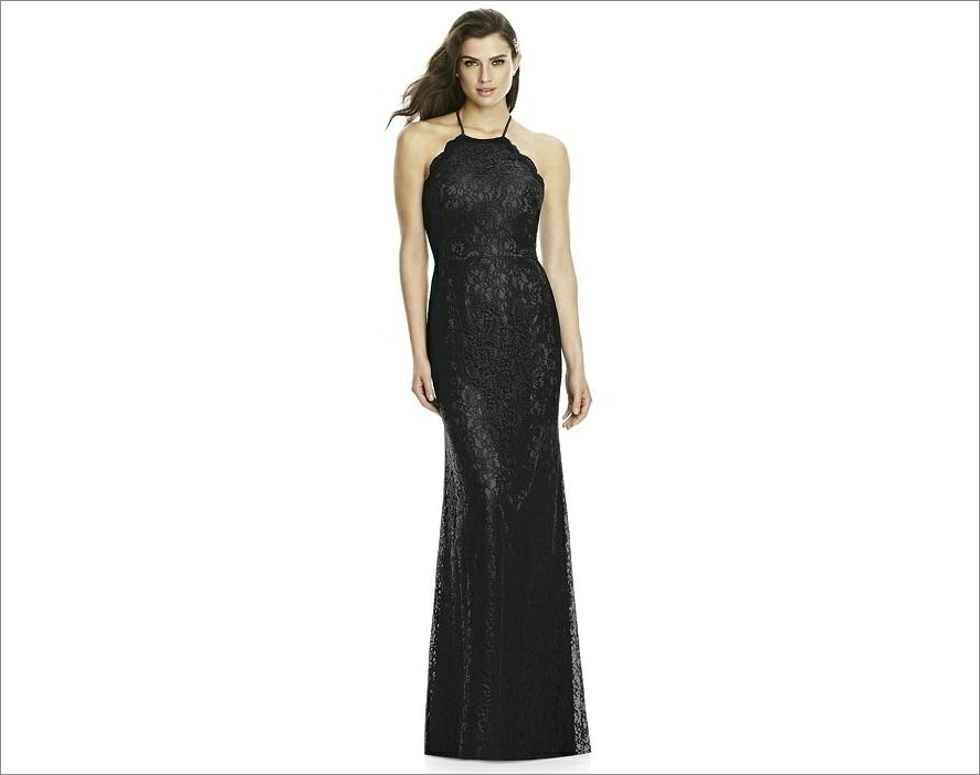 Dessy Bridesmaid Dress 2995 in black
