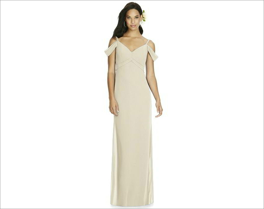 Social Bridesmaids Style 8183 in palomino from dessy