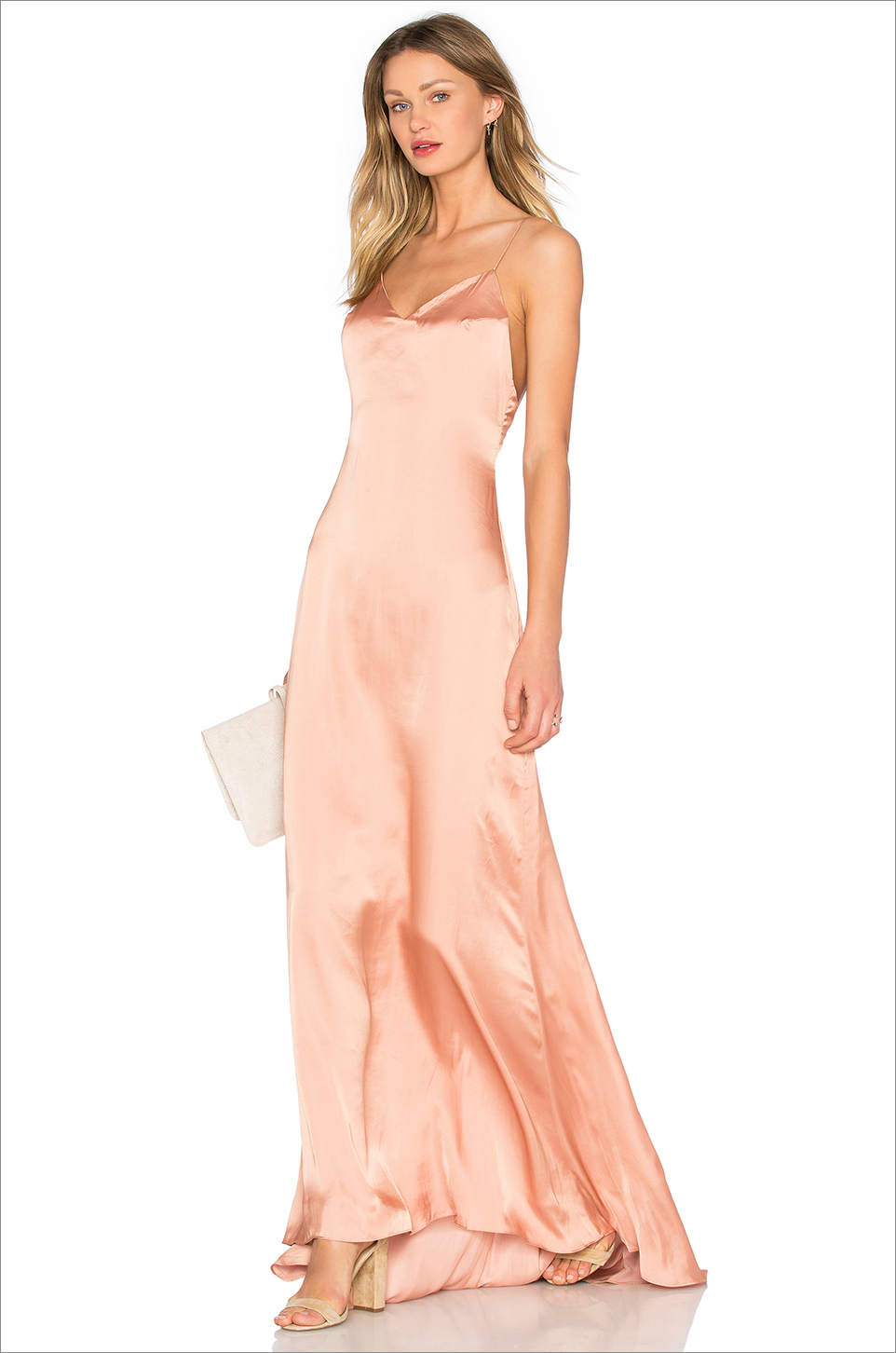 X REVOLVE THE SLIP DRESS  LOVERS + FRIENDS LOVERS + FRIENDS pink blush coral wedding guest dress ideas