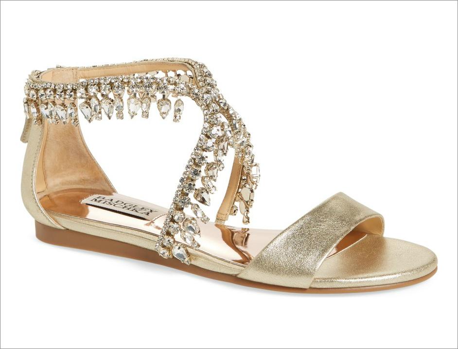 """""""Tristen"""" crystal sandal, $150.50 by Badly Mischka; nordstrom.com"""