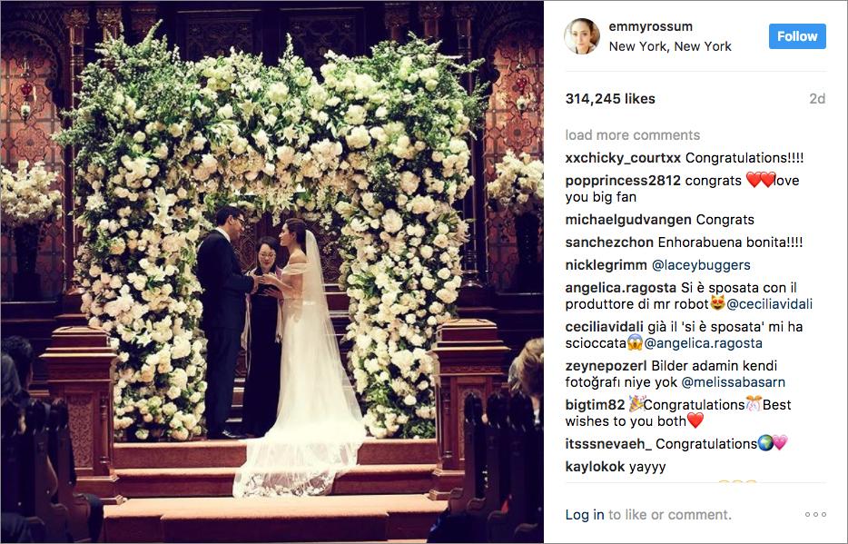 Emmy Rossum wedding photo