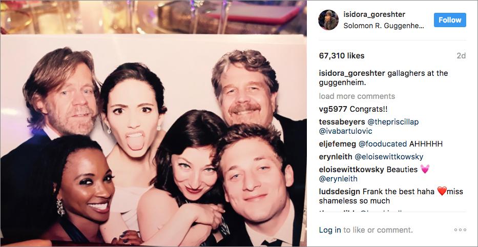 Isidora Goreshter Instagram from Emmy Rossum wedding
