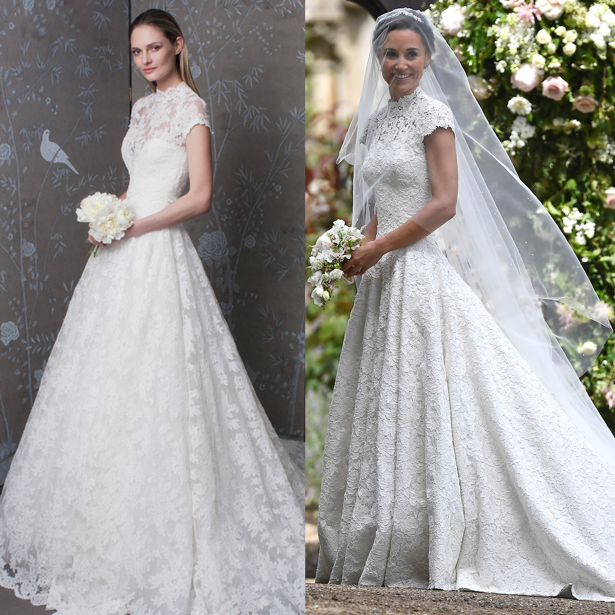 romona keveza look 7179 with look 8129, pippa middleton wedding dress