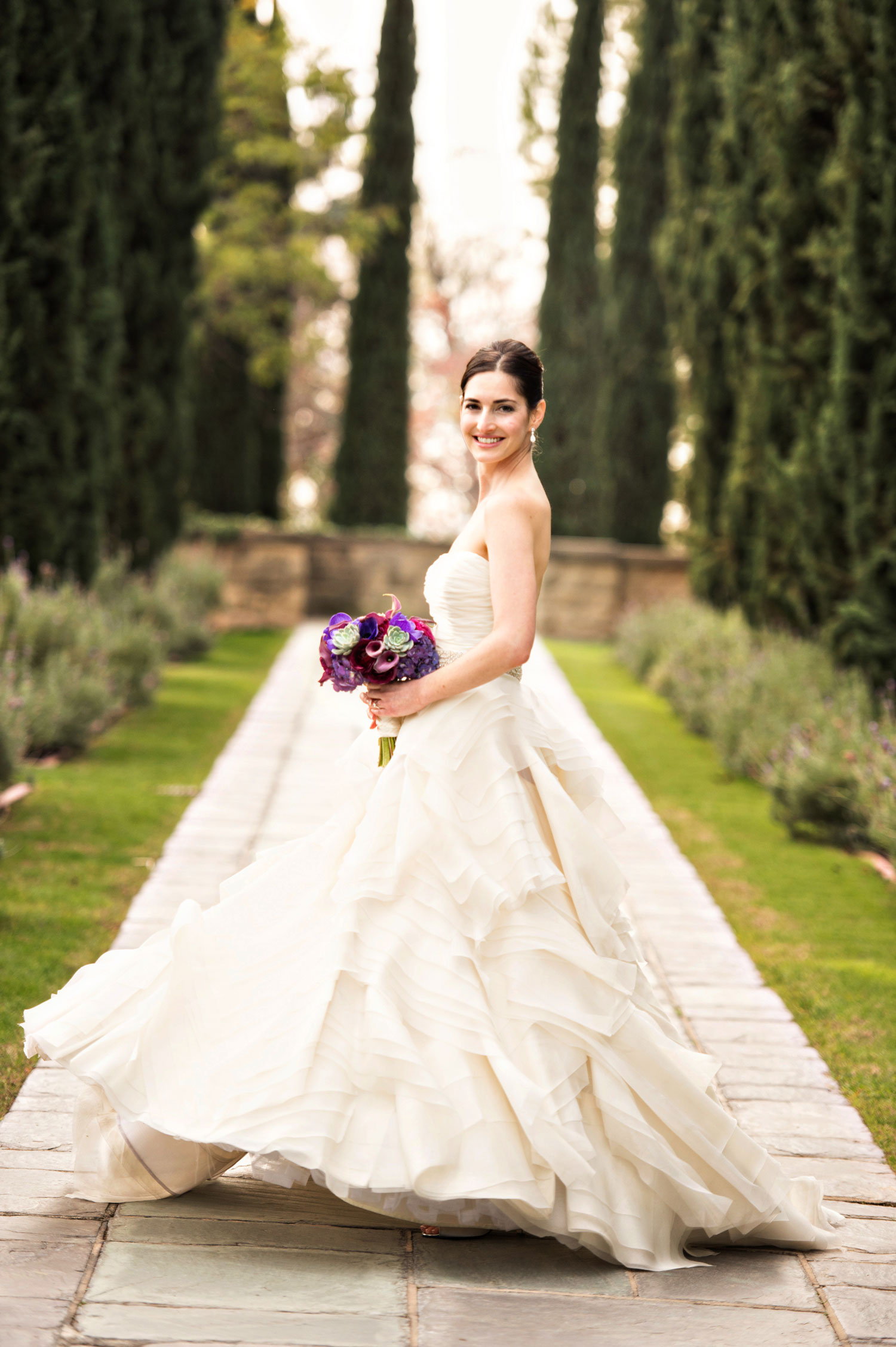 Laurie Bailey Photography bridal portrait bride in ball gown photo ideas