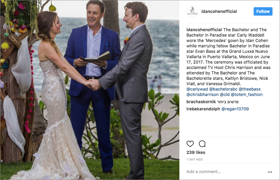 Bachelor in Paradise wedding Carly Waddell Evan Bass Mexico Chris Harrison