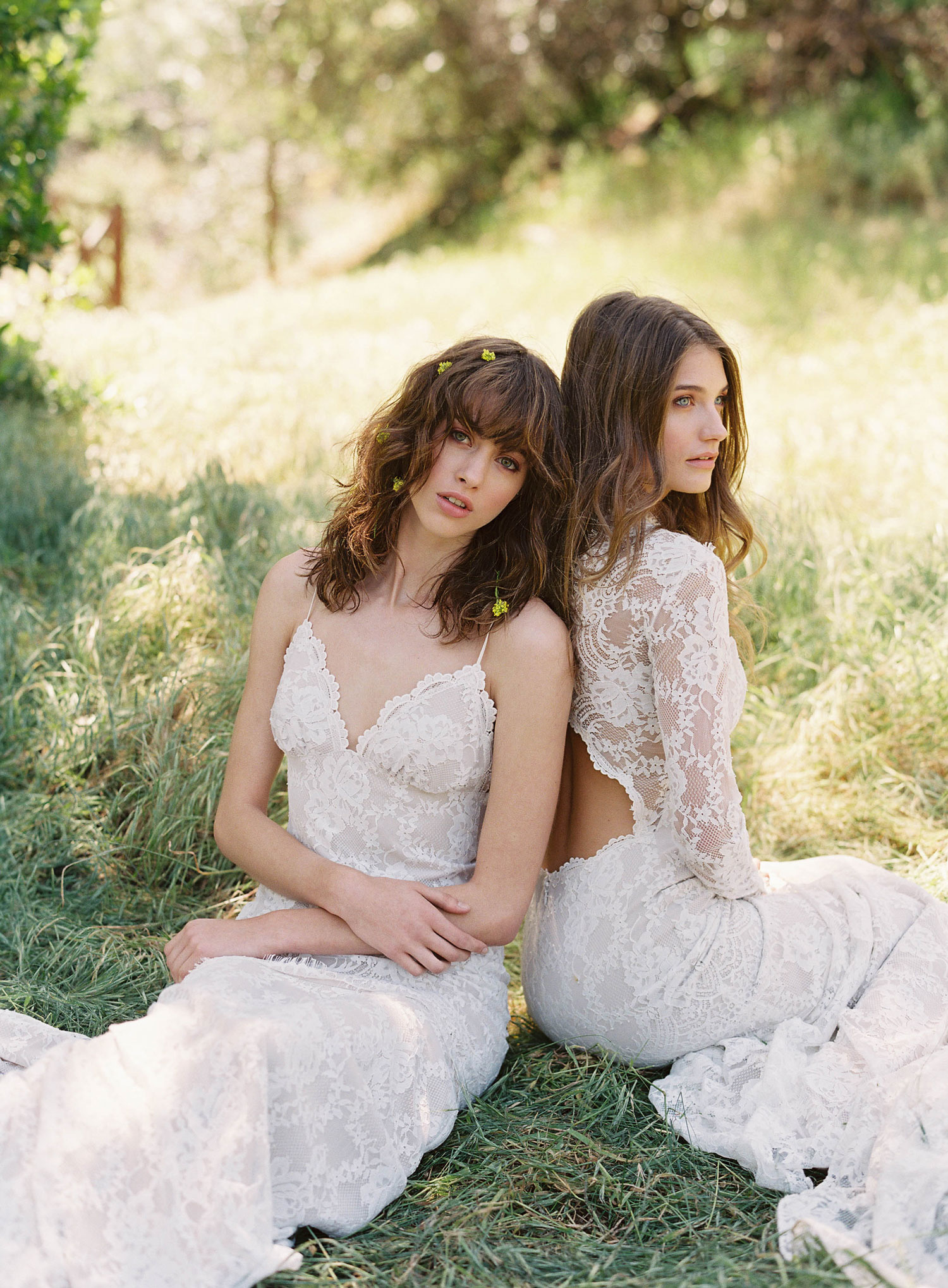 Claire Pettibone Romantique stylized shoot in Malibu California Dreamin' collection Beverly Marina wedding dress