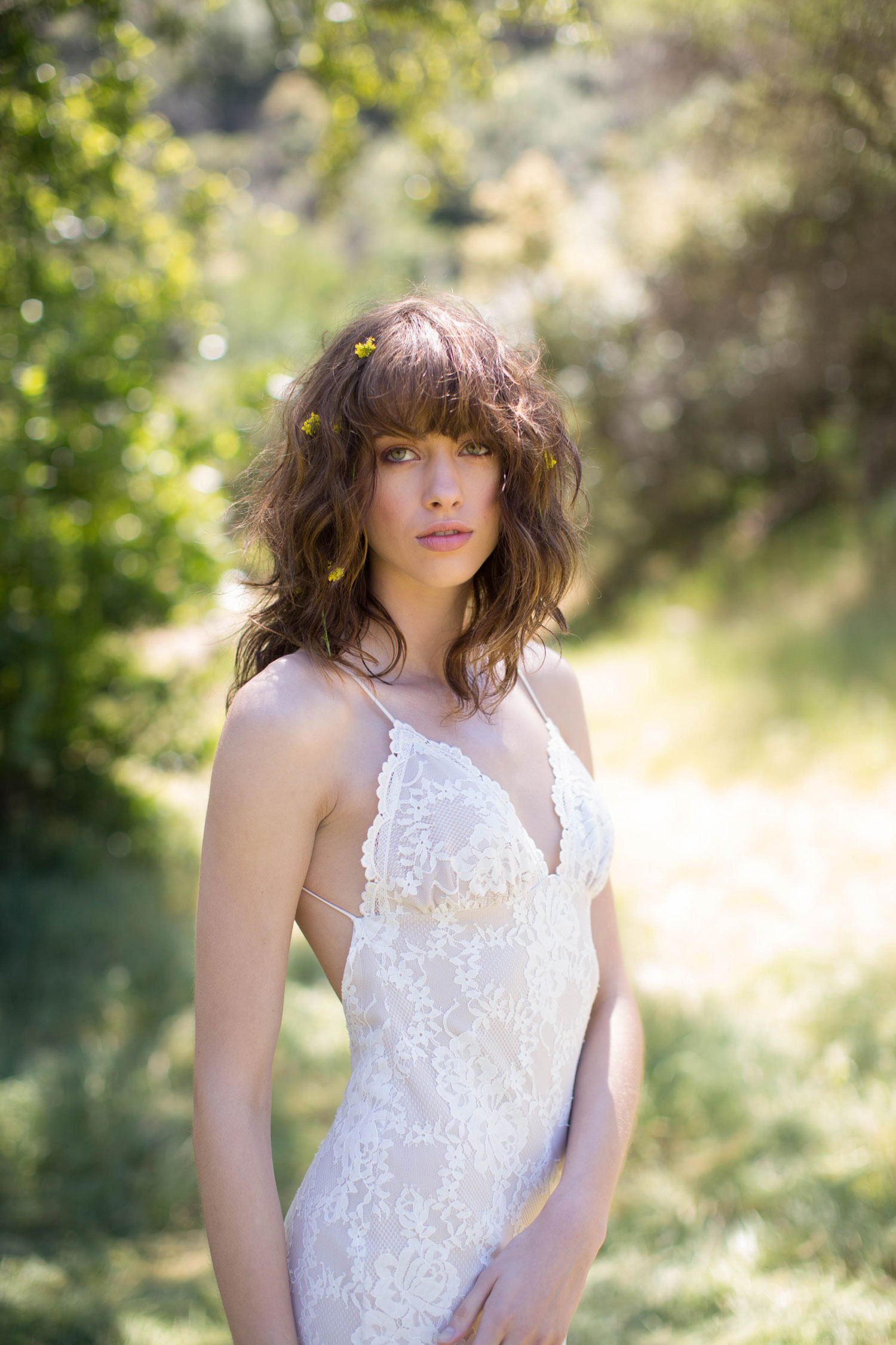Claire Pettibone Romantique stylized shoot in Malibu California Dreamin' collection Marina wedding dress