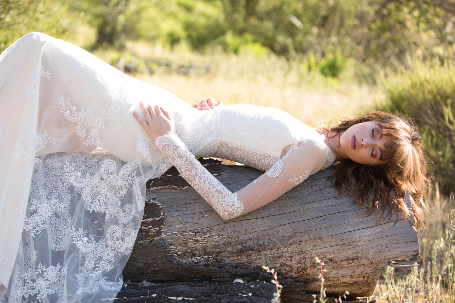 Claire Pettibone Romantique stylized shoot in Malibu California Dreamin' collection Pasadena wedding dress