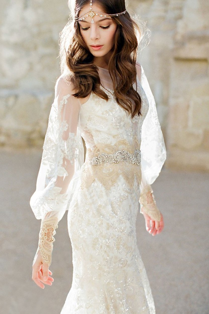 Lucy Hale\'s Aria Montgomery Wears Claire Pettibone to Her TV Wedding ...