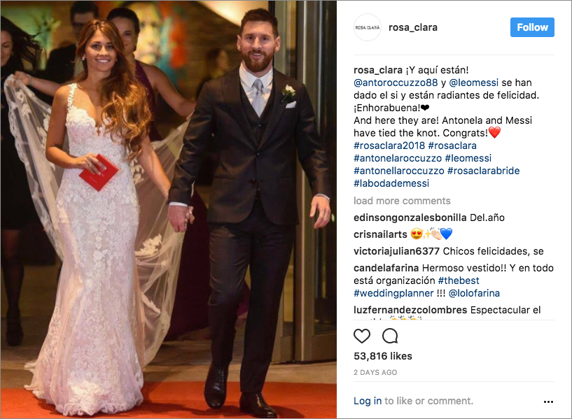 Soccer Star Lionel Messi Is Married See The Details Of His Wedding