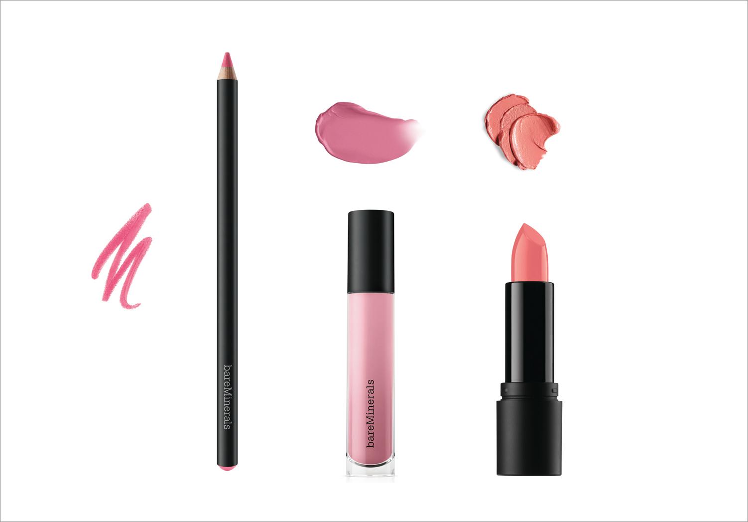 Bare Minerals Matte liquid lip color shine lipstick and lip liner summer beauty ideas