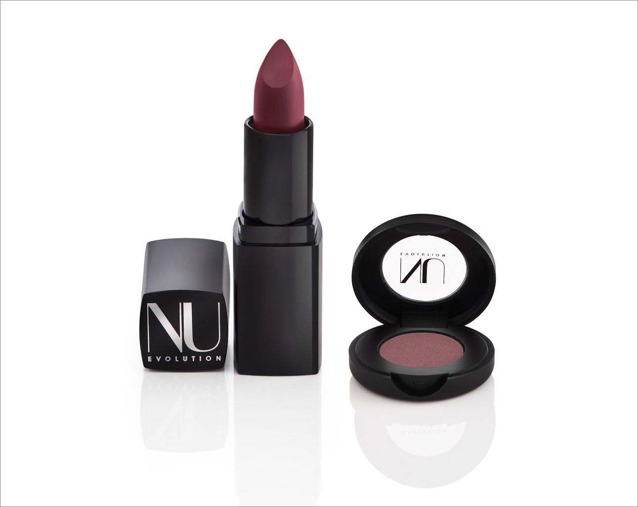 Nu Evolution lipstick and eye shadow dark hues summer beauty