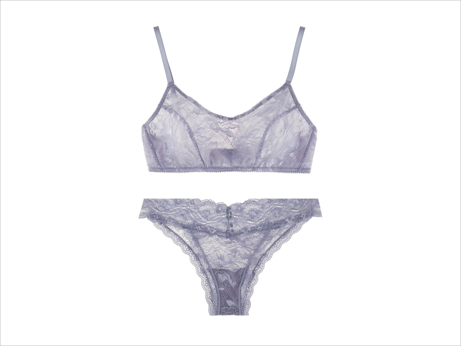 Undies.com lavender Luna bralette and laurent brazillian bottom intimates bridal lingerie ideas