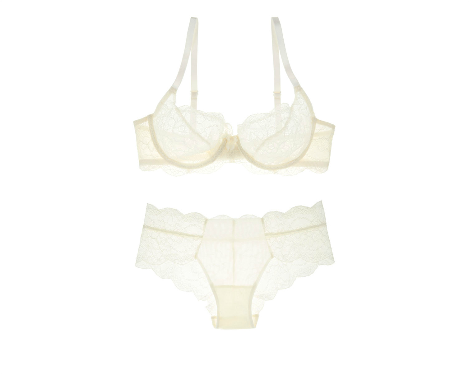 Undies.com bridal underwear ideas classic white avery demi bra and liaison hipster bottom