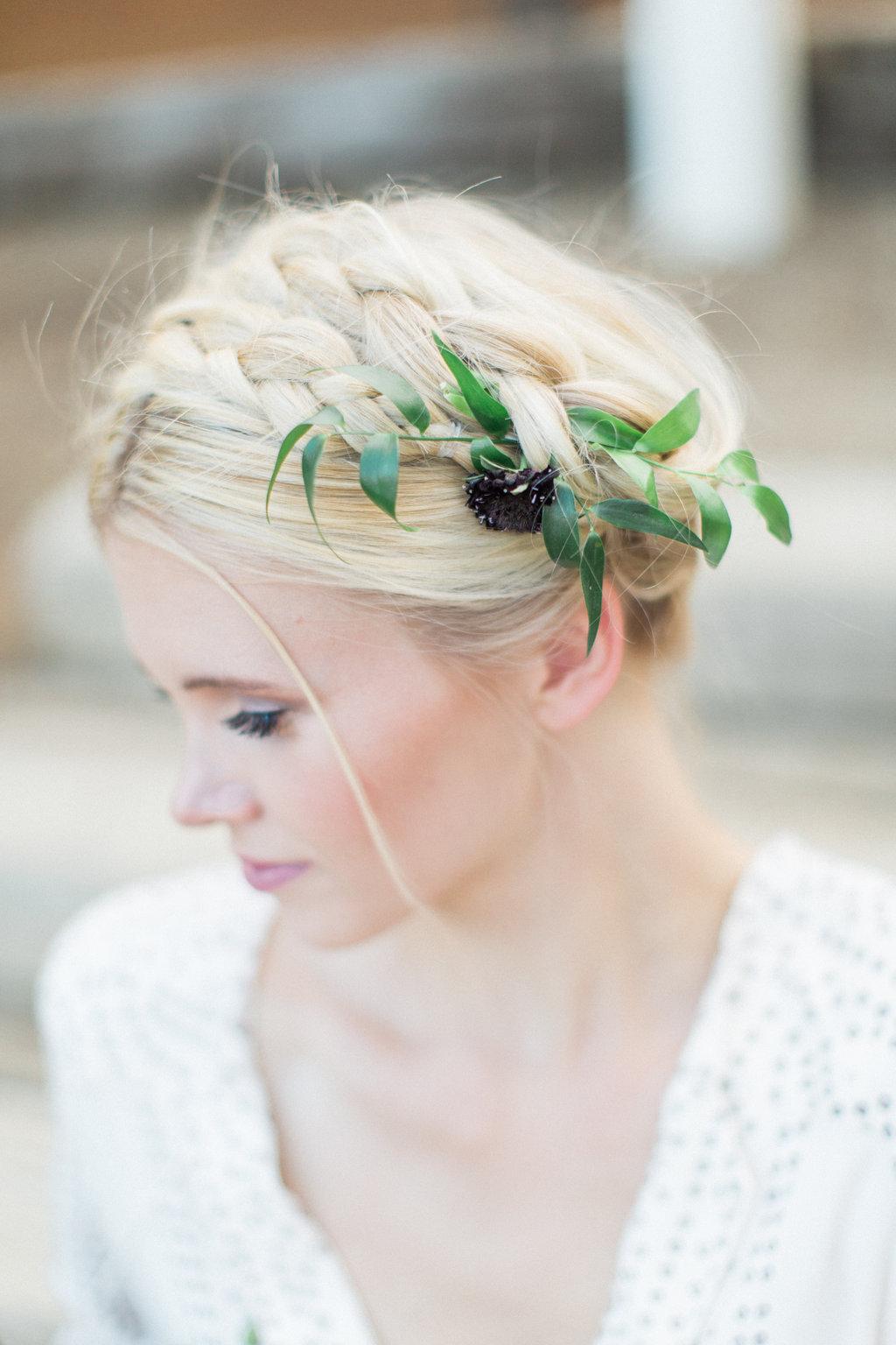 bohemian wedding, milkmaid braids, bridal updo milkmaid braids, blonde hair braided bridal updo